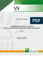 Actualizacion Del RUT en 3 Pasos Para Actividad Economica