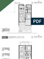 Boheme 1 Bedroom Floorplans Mike Stewart