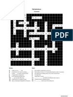 Facility Management Crossword Assignment Solutions