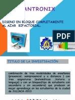 EXPERIMENTO BIFACTORIAL CON DISEÑO COMPLETAMENTE AL AZARr