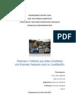 Factores de Localizacion Empresa Pesquera_Maria Gabriela Cruz
