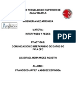 comunicacion e intercambio de datos de pc a pc