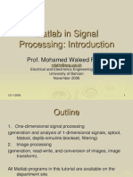 Matlab in signal processing