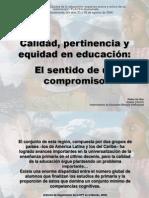 Calidad Educativa, PONENCIA-FLACSO