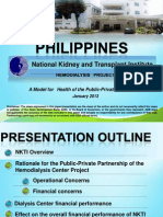 NKTI's Presentation to ADB on Hemodialysis Project (Public-Private Partnership)