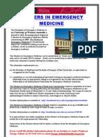 MASTERS IN EMERGENCY MEDICINE