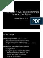 Metabolomic analysis during glucose infusion