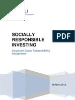 Socially Responsible Investing_R.pathak_SMU EMBA Intake II