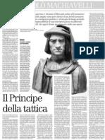 Gabriele Pedullà su Niccolò Machiavelli e la sua teoria militare - il Manifesto 24.01.2013