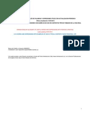 GLOSARIO ESPAÑOL-INGLES DE PALABRAS Y EXPRESIONES UTILES (05 09 2012