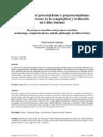 Flanqueando el procesualismo y posprocesualismo Arqueología teoria de la complejidad y la filosofía de Gilles Deleuze