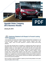Hyundai_Motor. 4Q12 Earnings presentation