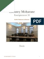 Likoutey Moharane - Enseignement 30