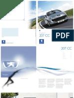 Peugeot 207 Cc Brochure