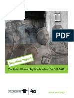 ACRI's Annual Report 2012 – Human Rights in Israel and the OPT