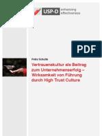 USP-D Vertrauenskultur als Beitrag zum Unternehmenserfolg