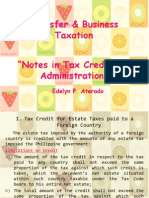 Tax Credit and Administration