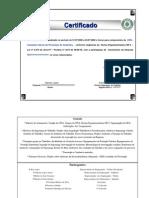 Certificado Curso de Cipa - Frente - Verso