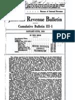 Bureau of Internal Revenue Cumulative Bulletin III-1 (1924)