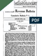 Bureau of Internal Revenue Cumulative Bulletin V-1 (1926)