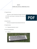 Praktikum fisika solar cell