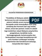 FALSAFAH PENDIDIKAN KEBANGSAAN A4x2-A3 SIZE (2013)