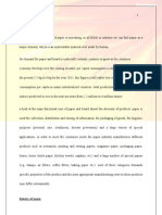 Paper Industry Project Report Full Project