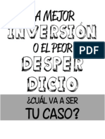 INVERIÓN o Desperdicio - Libro