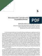 Determinacion y Preseleccion Del Sexo en Ganaderia Bovina. Reproduccion