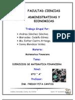 TRABAJO DE MATEMATICA FINACIERA.... GRUPO Nº5