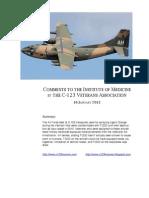 C-123 Transport Aircraft Veterans' Report to Institute of Medicine