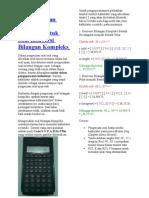 Cara Pengoperasian Kalkulator Scientific Untuk Soal Konversi Bilangan Kompleks