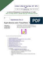 Equivalencias VB.net y C#