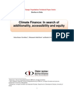Climate finance document