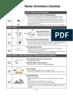 PWC Orientation Checklist