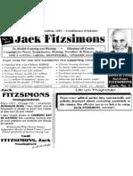 Jack Fitzsimons Election Flier (1994)
