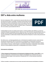 Mulheres Contra as DST e Aids - DST e Aids Entre Mulheres - 2010-10-21