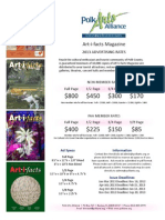 2013 Art-i-facts Magazine Ad Rates-Specs