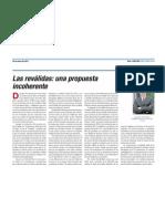 Reválidas - propuesta incoherente