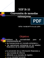Nif b15 Conversion de Monedas Extranjeras. Detallado