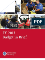 Homeland Security FY 2013