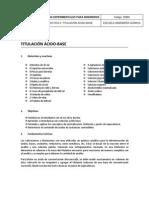Práctica 2. Titulación ácido-base