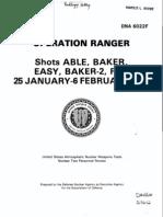 1951 - DNA 6022F - Operation RANGER - Shots ABLE, BAKER,