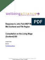 Wellbeing Alliance Consultation Response