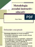 Metodologia procesului instructiv-educativ