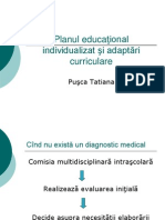 Planul educational individual si adaptari curriculare