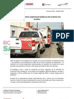 22-01-13 Boletin 1203 Oportuno operativo implementó Gobierno de la Gente tras temblor