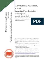 La crisi dell'uso dogmatico della ragione - a cura di Antonio Banfi
