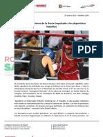 22-01-13 Boletin 1200 Continúa el Gobierno de la Gente impulsado a los deportistas nayaritas