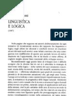 Linguistica e logica